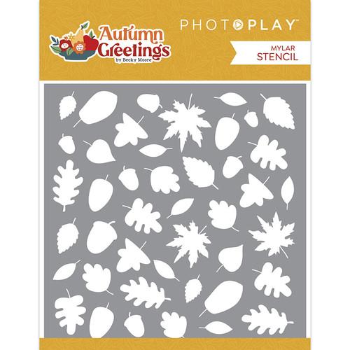 PhotoPlay Autumn Greetings 6x6 Stencil