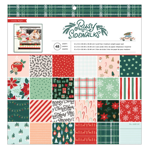 Crate Paper 12x12 Paper Pad: Busy Sidewalks (48 Sheets)