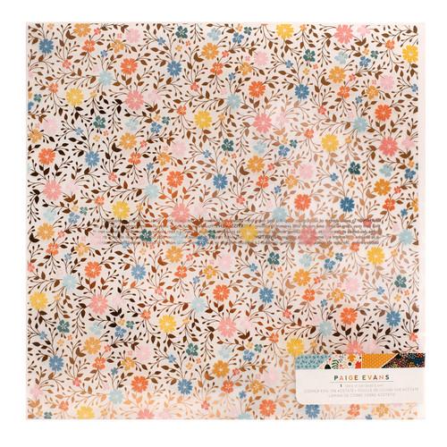 AC Paige Evans Bungalow Lane 12x12 Specialty Paper: Acetate with Copper Foil