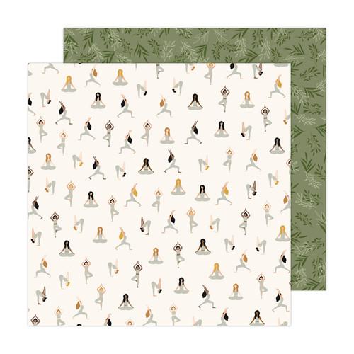 AC Jen Hadfield Peaceful Heart 12x12 Paper: Inhale Exhale