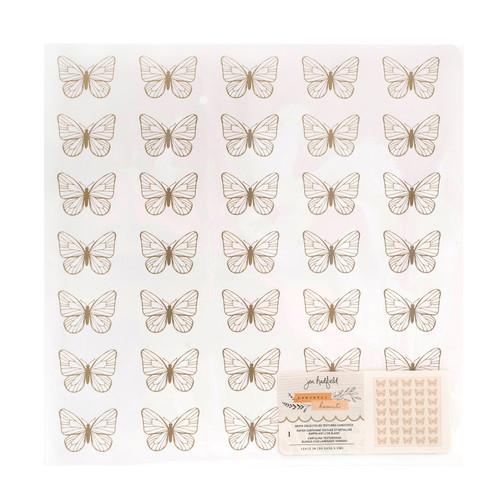 AC Jen Hadfield Peaceful Heart 12x12 Specialty Paper: Gold Foil