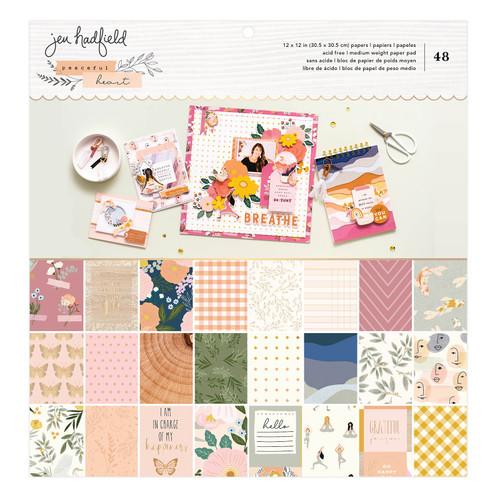 AC Jen Hadfield 12x12 Paper Pad: Peaceful Heart (Gold Foil - 48 Sheets)