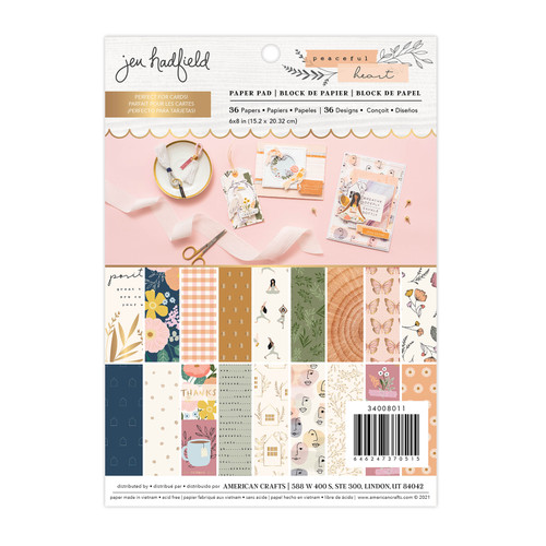 AC Jen Hadfield 6x8 Paper Pad: Peaceful Heart (Gold Foil - 36 Sheets)