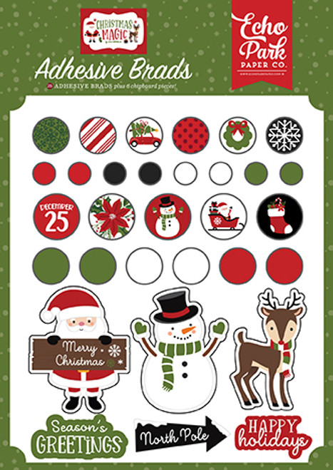 Echo Park Christmas Magic Adhesive Brads