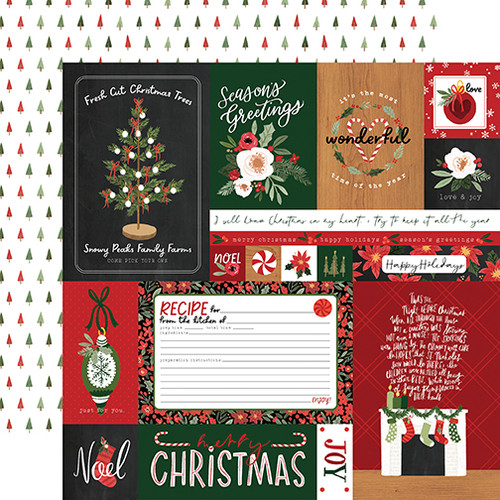 Carta Bella Happy Christmas 12x12 Paper: Multi Journaling Cards