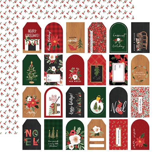 Carta Bella Happy Christmas 12x12 Paper: Gift Tags