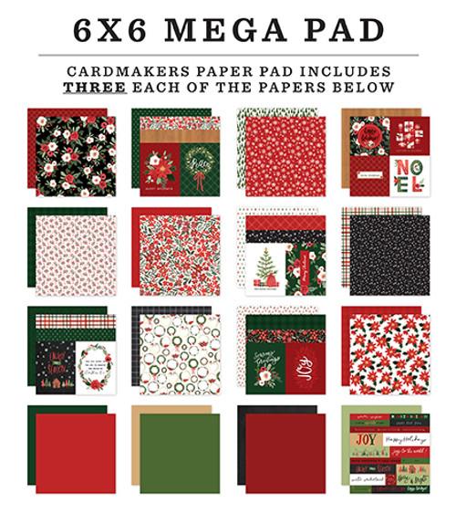 Carta Bella Happy Christmas Cardmakers 6X6 Mega Pad
