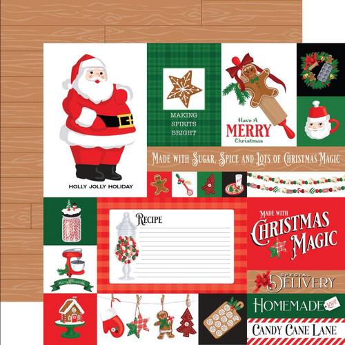 Carta Bella Christmas Cheer 12x12 Paper: Multi Journaling Cards