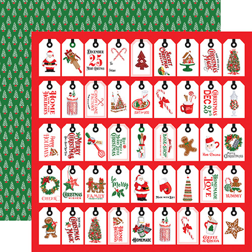 Carta Bella Christmas Cheer 12x12 Paper: Just For You Tags