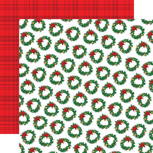 Carta Bella Christmas Cheer 12x12 Paper: Wreath Wonderland