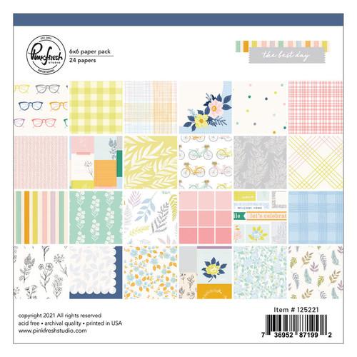 Pinkfresh Studio The Best Days: 6x6 paper pack