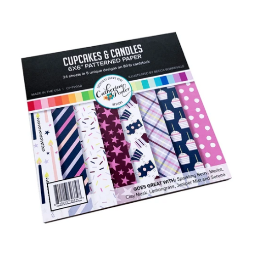 Catherine Pooler Designs 6x6 Paper Pad: Cupcakes & Candles