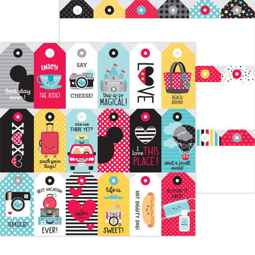 Doodlebug Fun at the Park 12x12 Paper: Luggage Tags