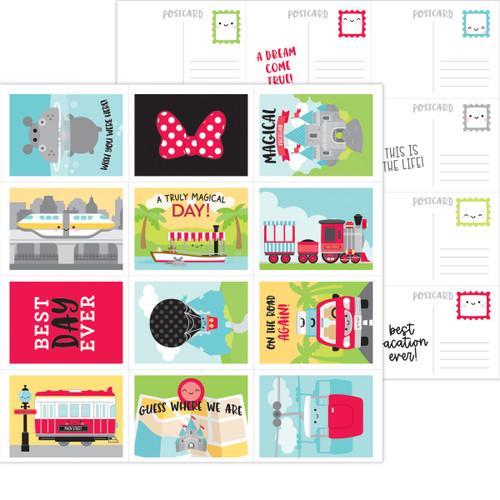 Doodlebug Fun at the Park 12x12 Paper: Post Cards