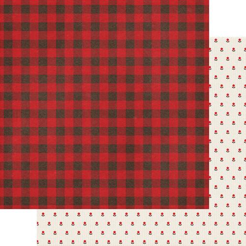 Fancy Pants Cozy Christmas 12x12 Paper: Checking It Twice