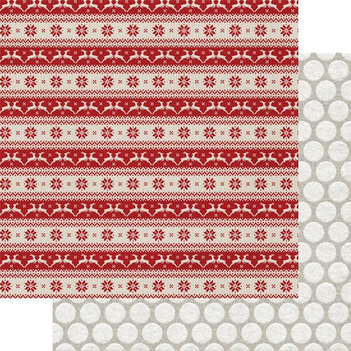 Fancy Pants Cozy Christmas 12x12 Paper: Rudolph's Run