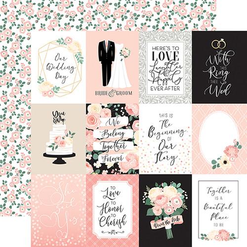 Echo Park Wedding 12x12 Paper: 3X4 Journaling Cards