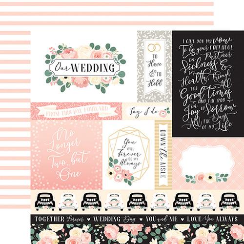 Echo Park Wedding 12x12 Paper: Journaling Cards