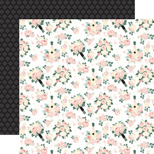 Echo Park Wedding 12x12 Paper: Bouquet Toss