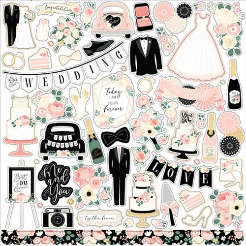Echo Park Wedding Element Sticker