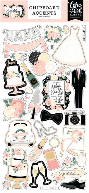 Echo Park Wedding Chipboard Accents