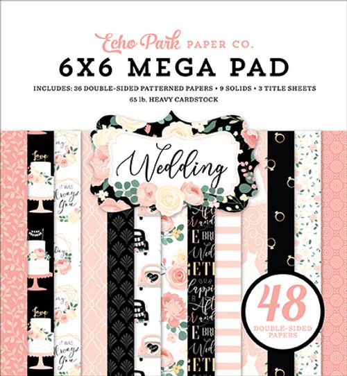 Echo Park Wedding Cardmakers 6x6 Mega Paper Pad