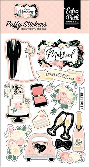 Echo Park Wedding Puffy Stickers