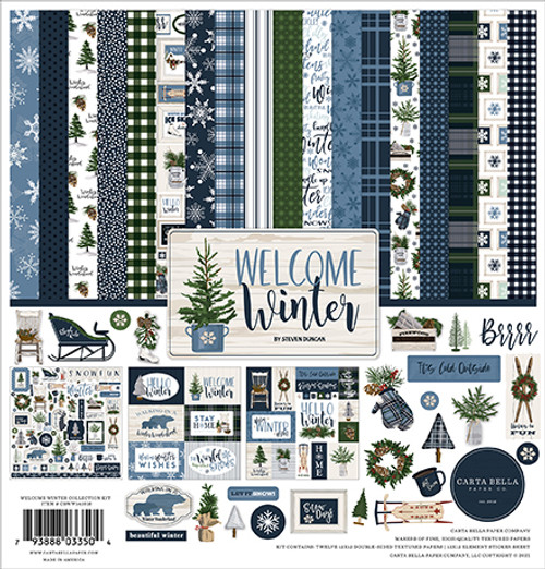 Carta Bella Welcome Winter Collection Kit