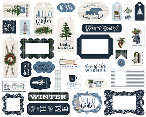 Carta Bella Welcome Winter Frames & Tags