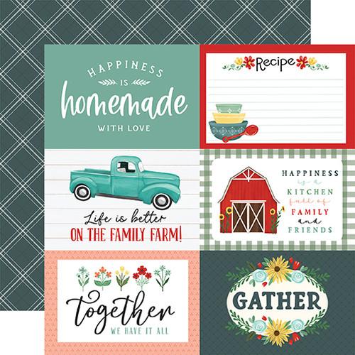 Carta Bella Sunflower Market 12x12 Paper: 6X4 Journaling Cards
