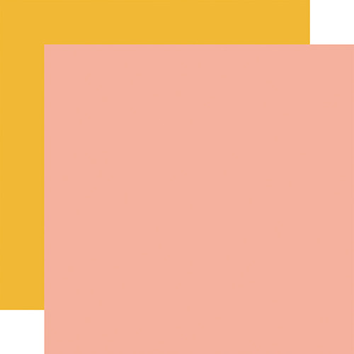 Carta Bella Sunflower Market 12x12 Paper: Pink / Yellow (Coordinating Solid)