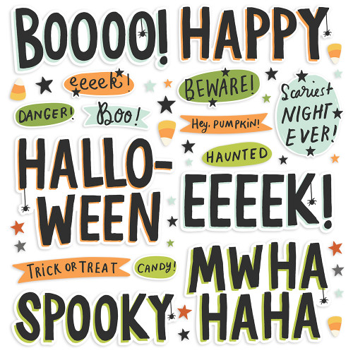 Simple Stories Spooky Nights Foam Stickers