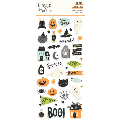 Simple Stories Spooky Nights Puffy Stickers
