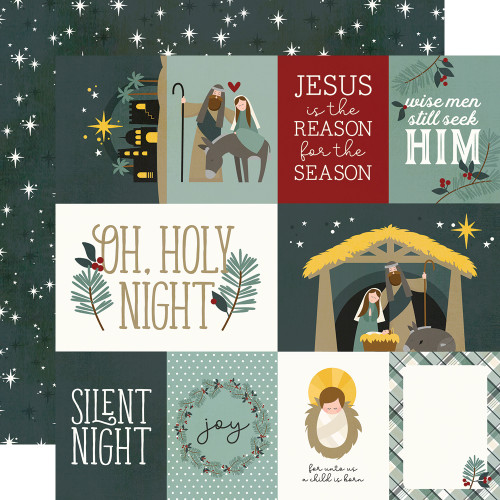 Simple Stories Oh, Holy Night 12x12 Paper: Element Cards