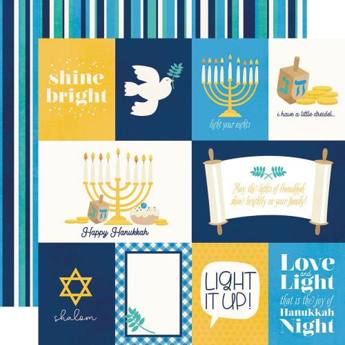 Simple Stories Happy Hanukkah 12x12 Paper: Element Cards