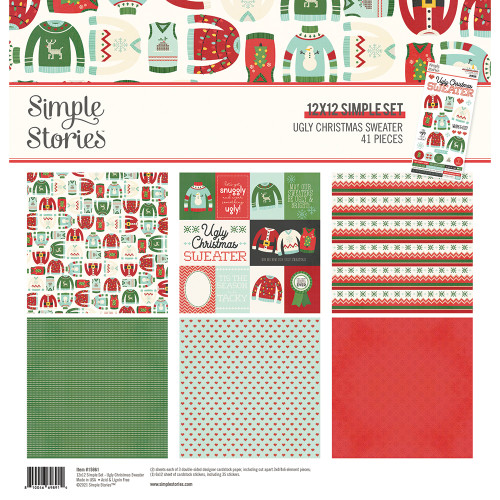 Simple Stories Ugly Christmas Sweater Collection Kit