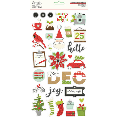 Simple Stories Make It Merry 6x12 Chipboard