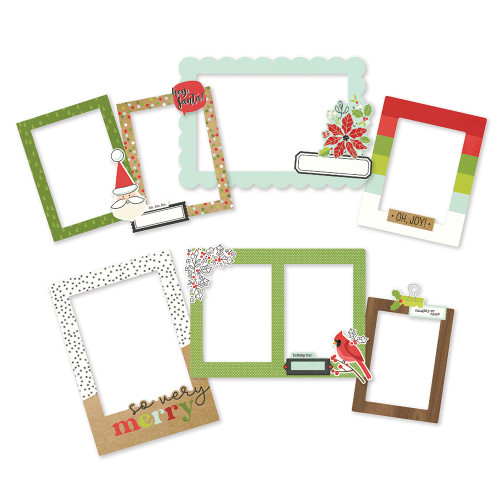 Simple Stories Make It Merry Chipboard Frames