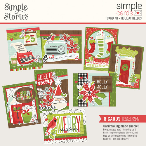 """Simple Stories """"Simple Cards"""" Card Kit: Holiday Hellos"""