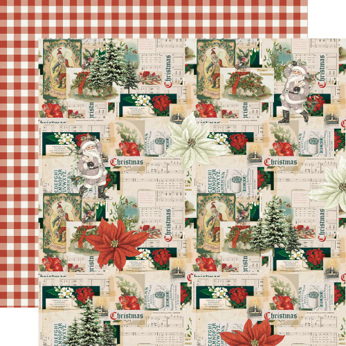 Simple Stories Simple Vintage Rustic Christmas 12x12 Paper: Wrapped with Care