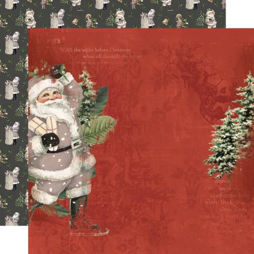 Simple Stories Simple Vintage Rustic Christmas 12x12 Paper: Jolly Good