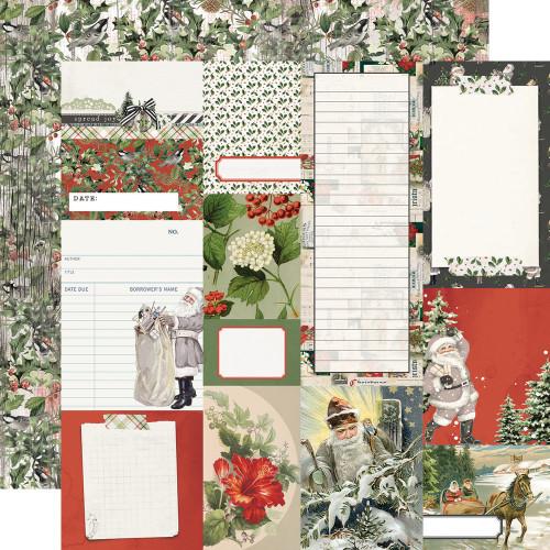 Simple Stories Simple Vintage Rustic Christmas 12x12 Paper: Journal Elements