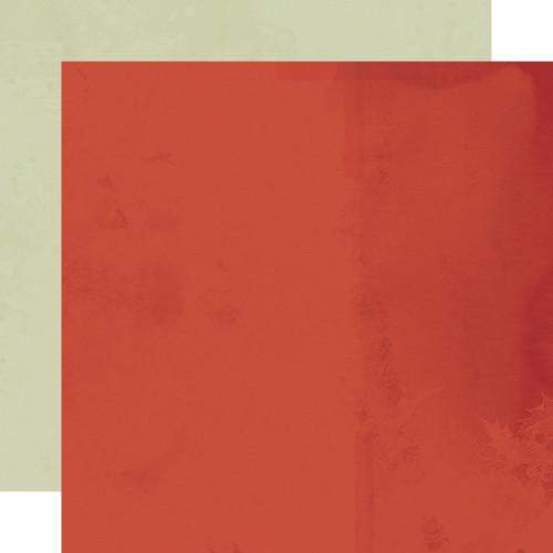 Simple Stories Simple Vintage Rustic Christmas 12x12 Paper: Cranberry/Sage