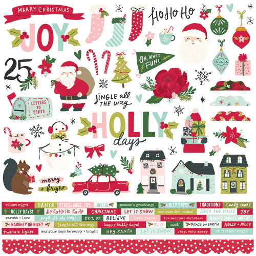 Simple Stories Holly Days Cardstock Sticker