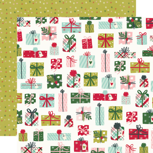 Simple Stories Holly Days 12x12 Paper: No Peeking!