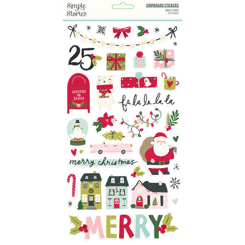Simple Stories Holly Days 6x12 Chipboard