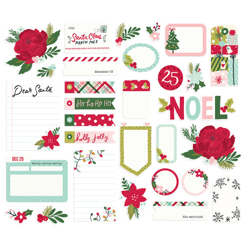 Simple Stories Holly Days Journal Bits & Pieces
