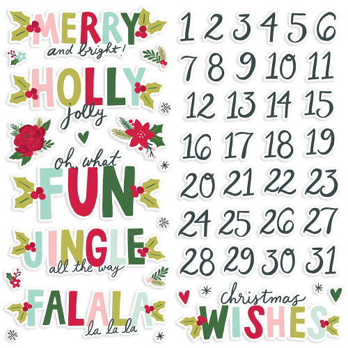 Simple Stories Holly Days Foam Stickers