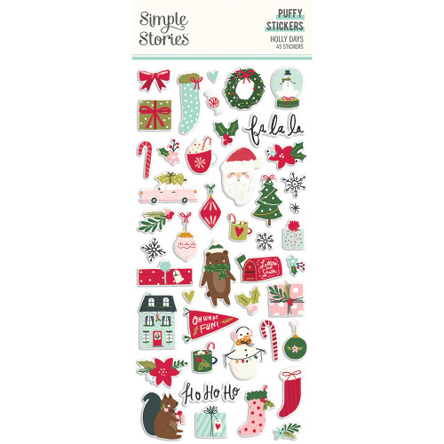 Simple Stories Holly Days Puffy Stickers