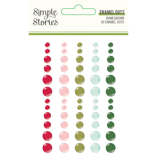 Simple Stories Holly Days Enamel Dots